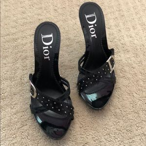 Dior woman's heels. Black size 9. Worn 3 times.